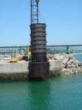 Ponte movel de Viana do Castelo - Fixação de estrutura metálica e selagem